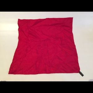 Red Italian Silk Square Scarf made in Italy